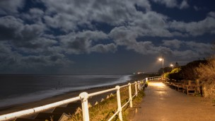 Southwold beach at night